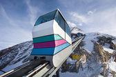 Funicular going to Kitzsteinhorn peak — Stock Photo