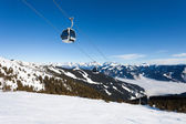 Cable car going to Schmitten — Stock Photo