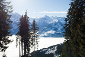 Invernali con sci piste della località di kaprun — Foto Stock