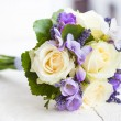 Wedding bouquet with yellow roses — Stock Photo #27698625