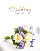 Wedding bouquet with yellow roses — Stock Photo