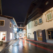 Stock Photo: Night view from Zell Am See village