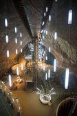 Underground chamber inside Turda Salt Mine — Stock Photo