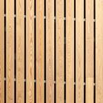 Wood stripes facade building decor — Stock Photo