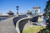 Most łańcuchowy w budapeszcie — Zdjęcie stockowe