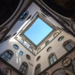 Internal court yard sky view of Palazzo Vecchio in Florence — Stock Photo