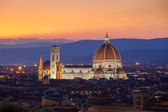 Sunst view of Cathedral Santa Maria del Fiore, Florence — Stock Photo