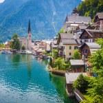 View of Hallstatt village — Foto Stock