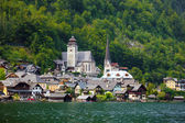 View of Hallstatt village — Stock Photo