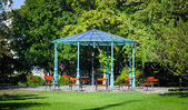 Beautiful pergola inside Buda Catle park — Stock Photo