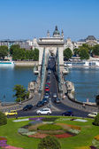 Szechenyi Chain Bridge, Budapest, Hungary — Stock Photo