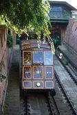 Funicular tram train going to Buda Castle — Stock Photo