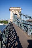 Chain Bridge over Danube river in Budapest — Stock Photo