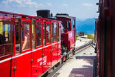 Steam trainn railway carriage going to Schafberg Peak  — Stock Photo