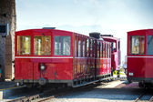 Steam trainn railway carriage going to Schafberg Peak  — ストック写真