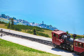 Steam trainn railway carriage going to Schafberg Peak  — Foto de Stock