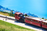Steam trainn railway carriage going to Schafberg Peak  — Stockfoto