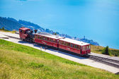 Steam trainn railway carriage going to Schafberg Peak  — Foto Stock