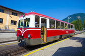 Diesel locomotive of a vintage cogwheel railway going to Schafbe — Stock Photo