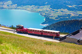 Diesel train railway carriage going to Schafberg Peak  — Stockfoto