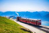 Diesel train railway carriage going to Schafberg Peak  — Stock Photo