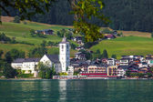 View of St. Wolfgang village — Stock Photo