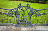 Detail of iron decoratif fence from French Embassy front garden  — Stock Photo