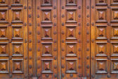 Detail of a wood house door — Stock Photo