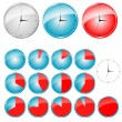 Vector timers — Stock Vector