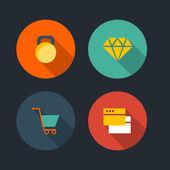Basic Flat icon set — 图库矢量图片