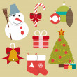 Christmas retro icons, elements and illustrations — Stock Vector #51774125