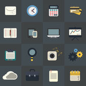 Flat Icons for Web and Mobile Applications — Stock Vector