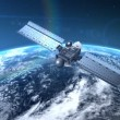 Satellite is orbiting the Earth — Stock Video