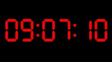 カウント ダウン時計赤色 led — ストックビデオ