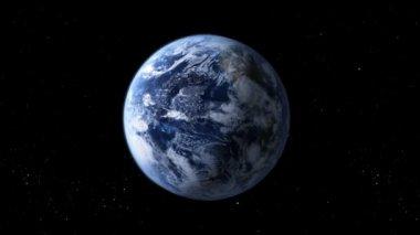 Rotating earth — Stock Video