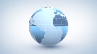 Globe, seamless loop 3d animation