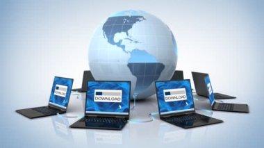 Global downloading — Stock Video