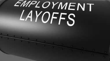 Employment layoffs bomb animation — Video Stock