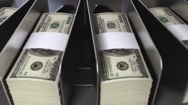 Money conveyor — Stock Video