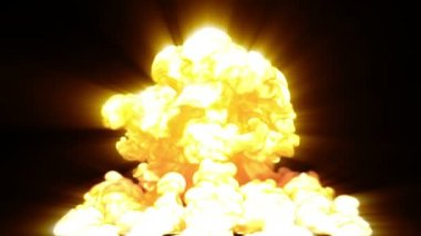 Nuclear explosion — Stock Video