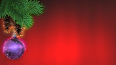 Christmas background — Stock Video