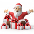 Santa Claus with gifts — Stock Photo