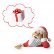 Stock Photo: SantClaus is dreaming about presents