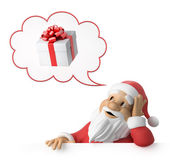 Santa claus träumt über geschenke — Stockfoto
