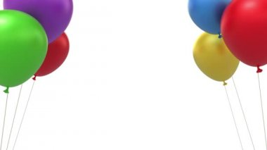 Balloons background — Stock Video
