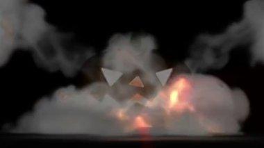 Halloween, explosion inside the pumpkin — Stock Video