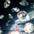 Slowly falling diamonds, beautiful background. seamless looped 3d animation — Stock Video
