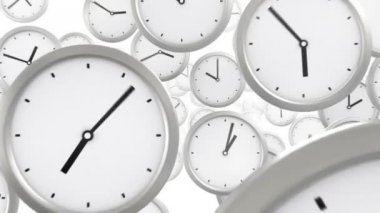 Time background, seamless looped 3d animation — Stok video