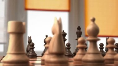 Chess before the fight, 3d animation — Stock Video