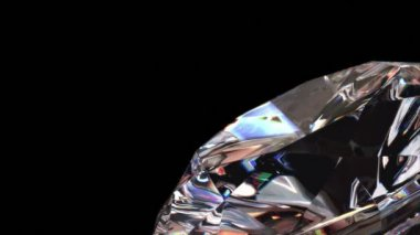 Diamond background, seamless looping 3d animation with alpha matte — Stock Video